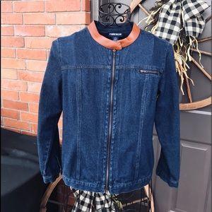 Women's Denim Zip Up Jacket VINTAGE